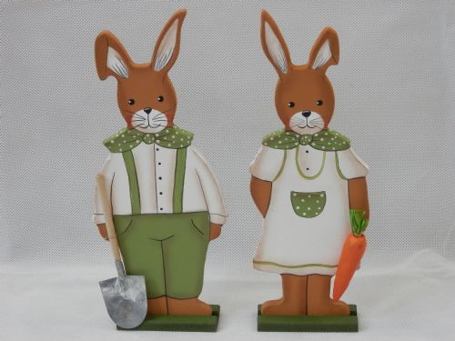 Gardening Rabbit Couple - Medium - Set of 2